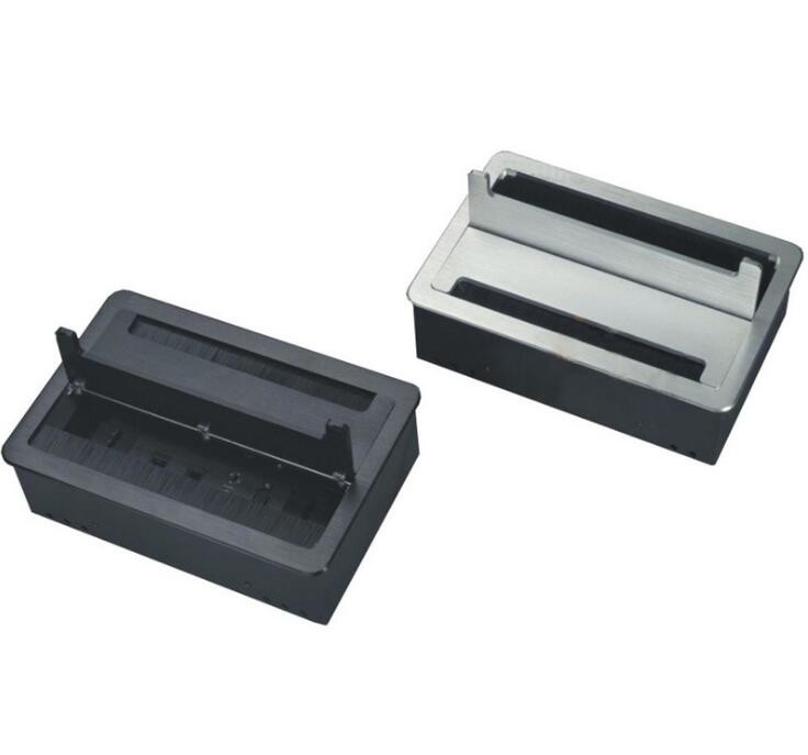 Multifunctional Aluminum Alloy Desktop Clamshell Box / Double Open Brush Box