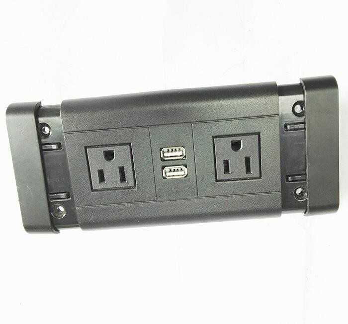 American Standard Conference Table Electrical Outlets / Hotel Furniture Power Socket USB Interface
